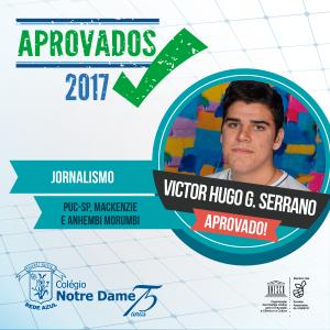Aprovados vestibular 2017 Victor-hugo