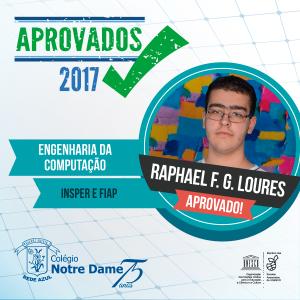 Aprovados vestibular 2017 rafael-loures